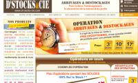 Site internet de destockage